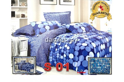 Single fitted bedsheet Cadar Bujang Murah 2in1