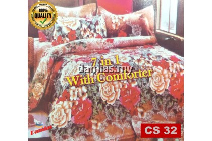 Cadar Set 7 IN 1 / with COMFORTER + Bed Sheet A to Z [ SUPER QUEEN ]