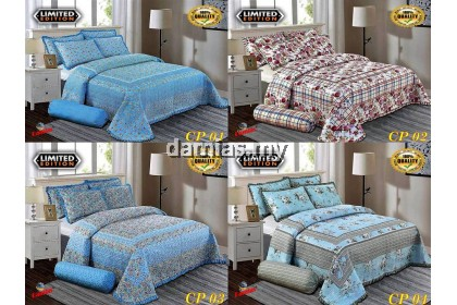 Cadar Patchwork ROPOL Set 6 IN 1 / Bed Sheet King and Queen [ 100 % cotton ] WALI 3