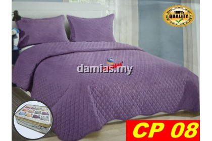 CADAR PATCHWORK SOLID COLOUR 6IN1 COTTON HU  [ QUEEN SIZE ]