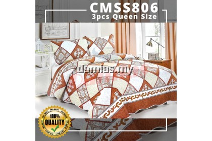 Cadar QUEEN Patchwork Set 3 IN 1 Bed Sheet TEBAL SIRI 9 SULTAN