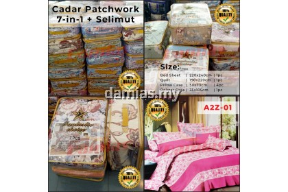 7 in 1 Bed sheets patchwork (100% Cotton) / Ada Selimut siri 3