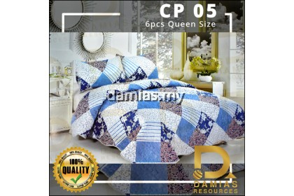 Cadar Patchwork Set 6 IN 1  Bed Sheet New design (ready to ship)