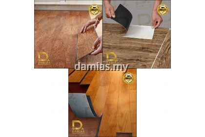 (1 PCS) SELF ADHESIVE Self Stick Vinyl Floor Water Proof [Loose Pack = 91cm x 15cm]