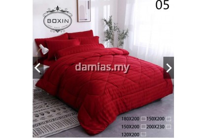 Cadar Hotel HILTON BOXIN 8IN1 with Comforter BedSheet Set KING SIZE / SUPER QUEEN