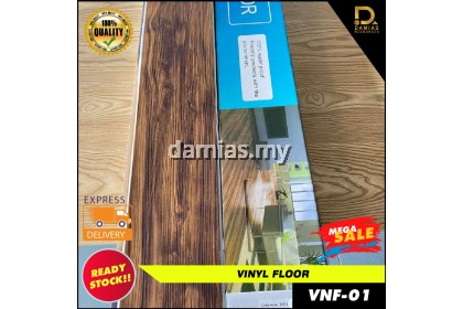 (1 PCS) SELF ADHESIVE Raz'mirul Self Stick Vinyl Floor Water Proof [Loose Pack = 91cm x 15cm] WITH GLUE