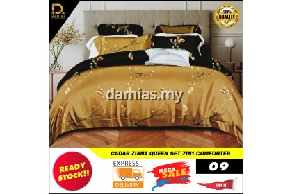 Cadar Ziana Collection Bedroom Set 7 IN 1 Comforter Queen Exclusive Bedding Set Ready Stock From Malaysia
