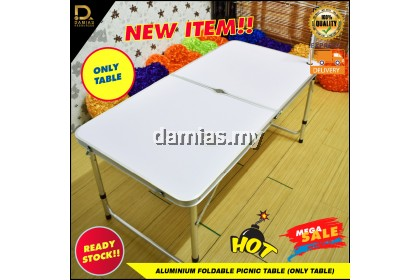 Aluminium foldable picnic table with chair / Aluminium foldable picnic table (only chair) Set meja berkelah